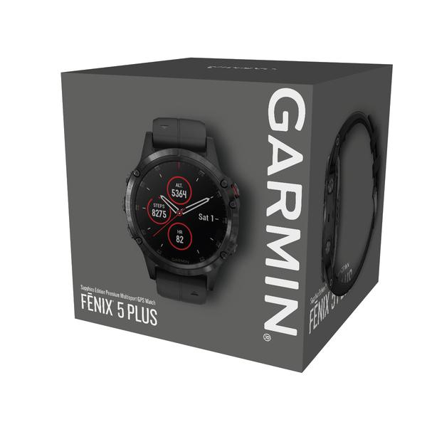 Garmin fénix 5 Plus Sapphire Black