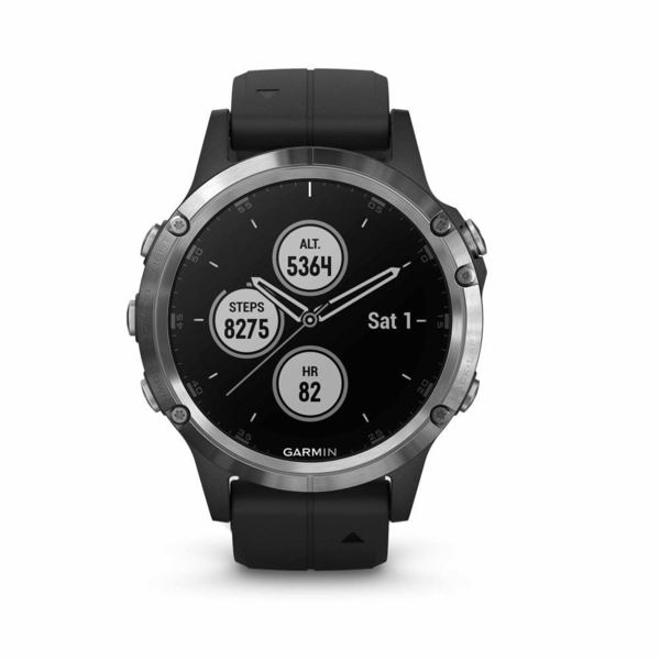 Garmin fénix 5 Plus Silver + Black Band