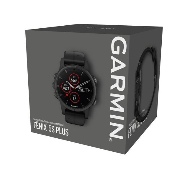Garmin fénix 5S Plus Sapphire Black