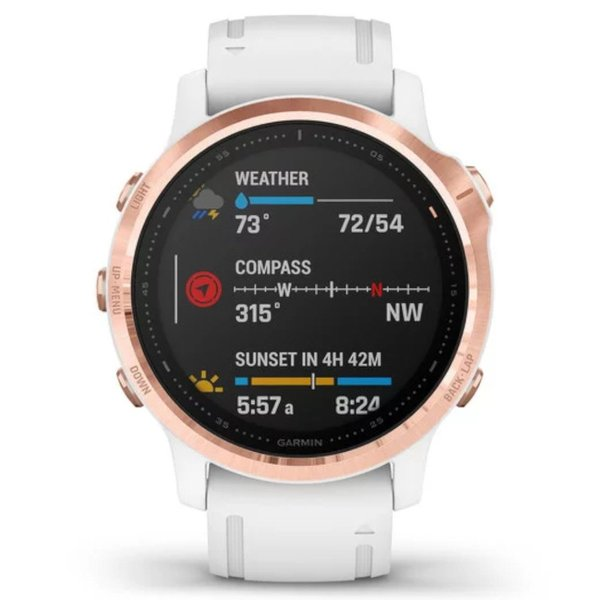 Garmin fénix 6S PRO Rose Gold White band