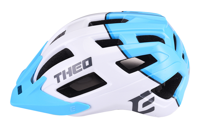 Cyklistická prilba THEO white-sky blue, S/M (55-58cm) shine