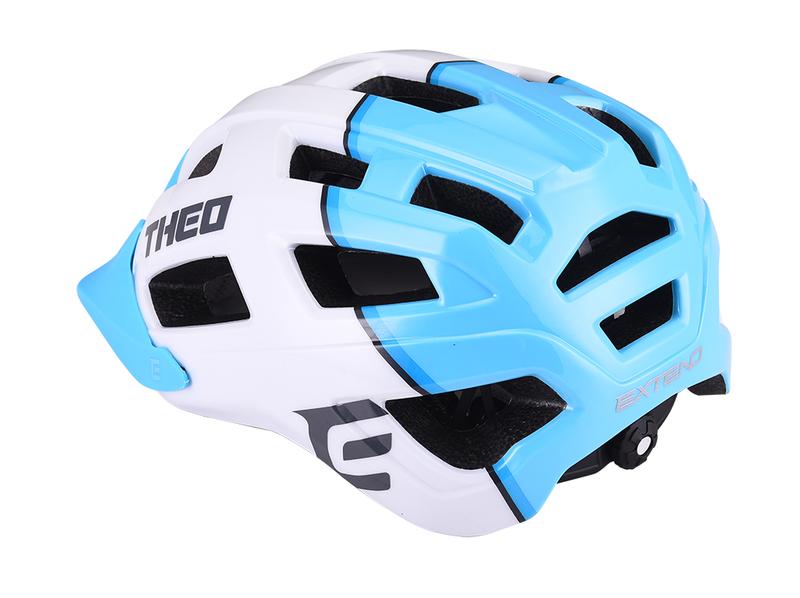 Cyklistická prilba Extend THEO white-sky blue, M/L (58-62cm) shine