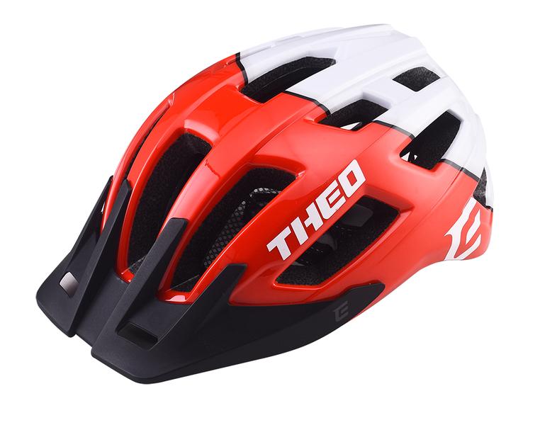Cyklistická prilba Extend THEO red-polar white, S/M (55-58cm) shine