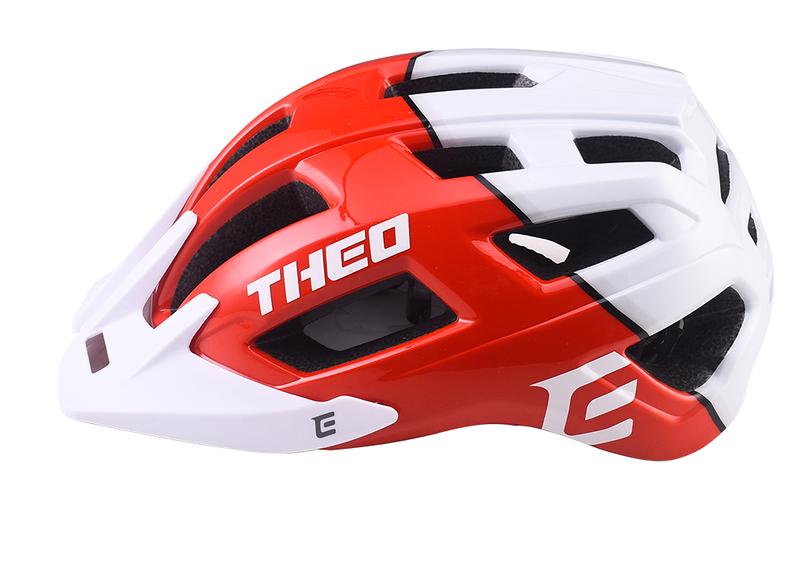 Cyklistická prilba Extend THEO red-polar white, M/L (58-62cm) shine