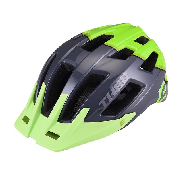 Cyklistická prilba Extend THEO grey-grass green, S/M (55-58cm) shine