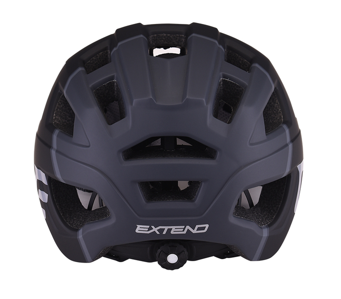 Cyklistická prilba Extend THEO black-dark grey, S/M (55-58cm) matt