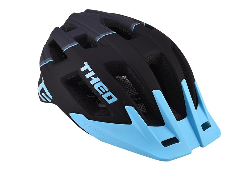 Cyklistická prilba Extend THEO black-sky blue, S/M (55-58cm) matt