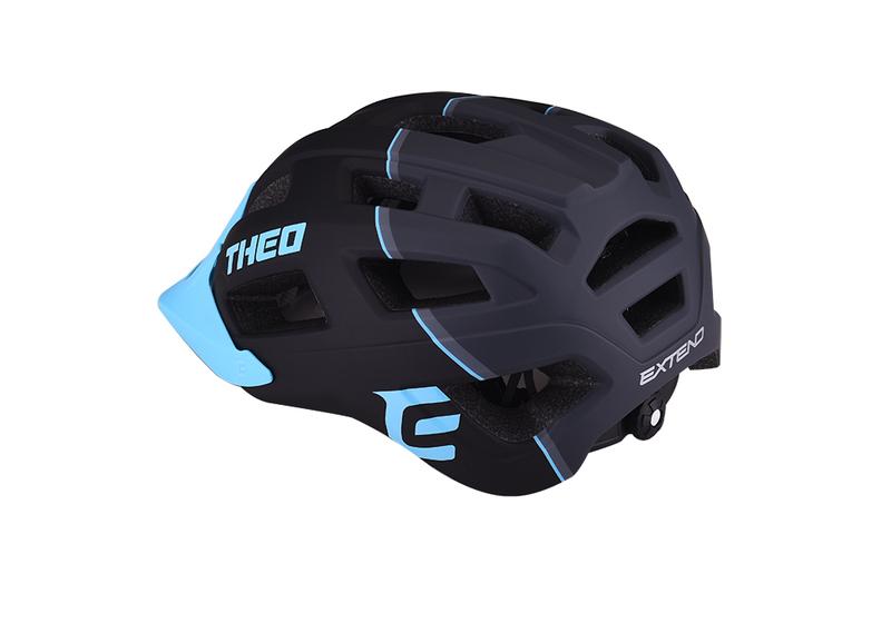 Cyklistická prilba Extend THEO black-sky blue, M/L (58-62cm) matt