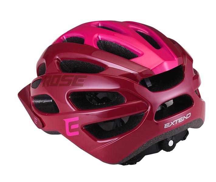 Cyklistická prilba Extend ROSE bordou-Lady pink, S/M (55-58cm) shine