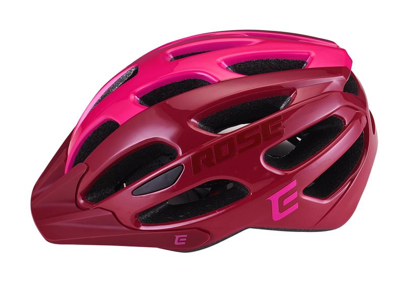 Cyklistická prilba Extend ROSE bordou-Lady pink, M/L (58-62cm) shine