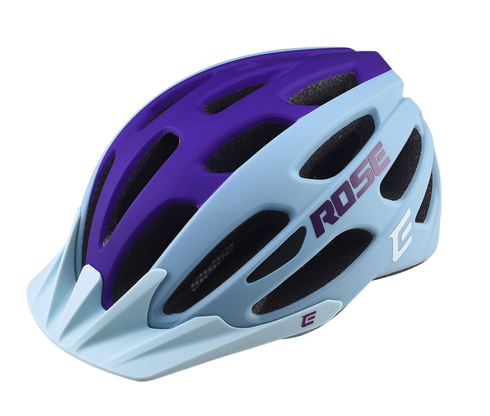 Cyklistická přilba Extend ROSE light blue-night violet, S/M (55-58 cm) matt