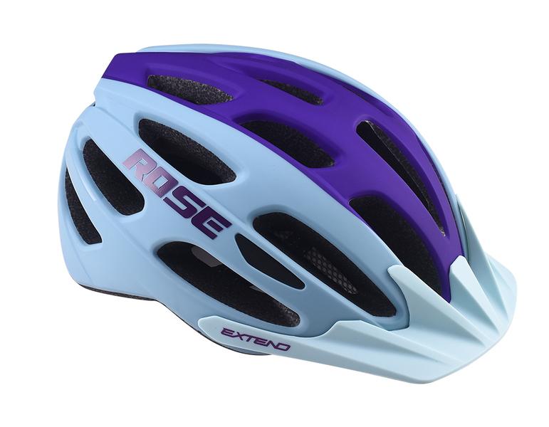 Cyklistická prilba Extend ROSE light blue-night violet, M/L (58-62cm) matt