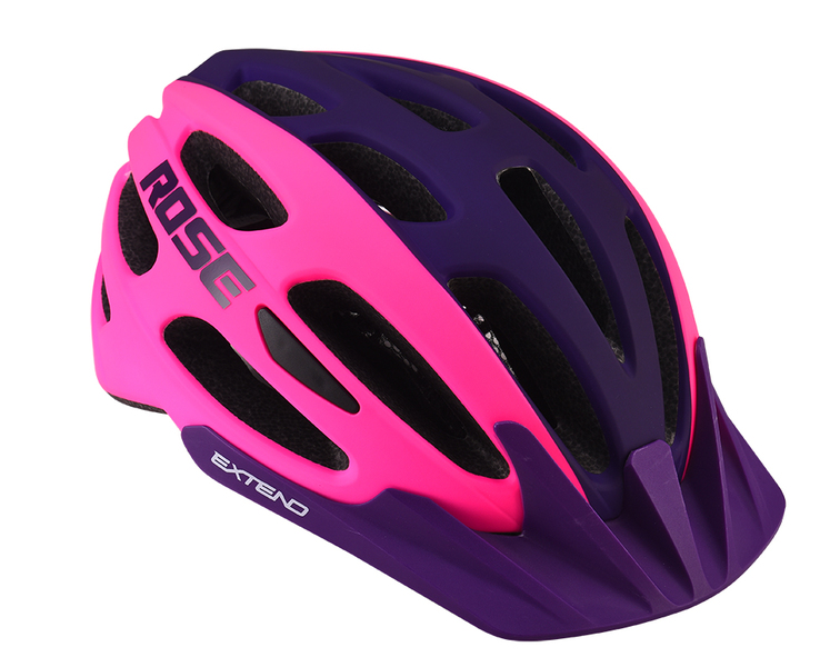 Cyklistická prilba Extend ROSE pink-night violet, S/M (55-58cm) matt