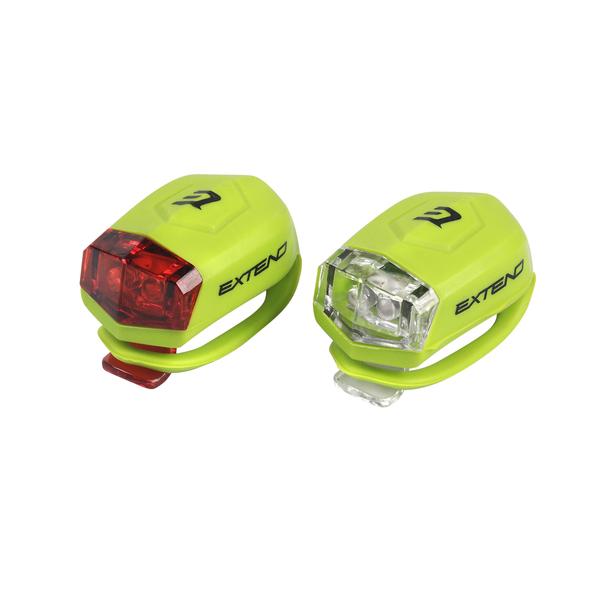 Sada bezpečnostného osvetlenia Extend FROGGIES  - lime