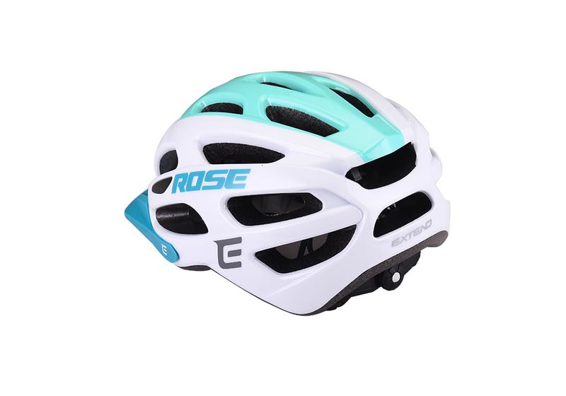 Cyklistická prilba Extend ROSE white-green, M/L (58-62cm) shine