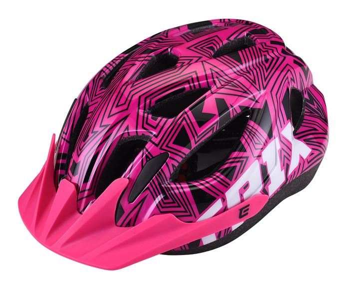 Přilba Extend TRIX labirint pink XS/S (48-52 cm), shine