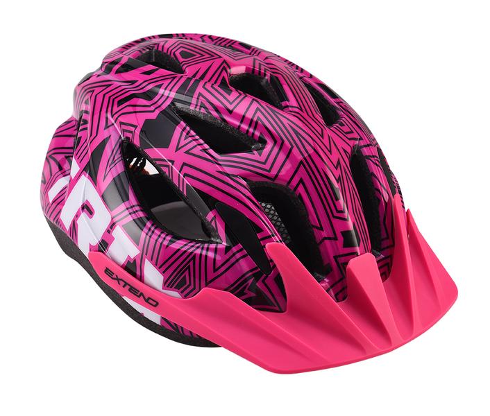 Prilba Extend TRIX labirint pink XS/S (48-52 cm), shine