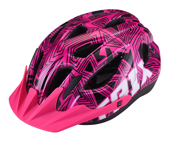 Přilba Extend TRIX labirint pink S/M (52-56 cm), shine
