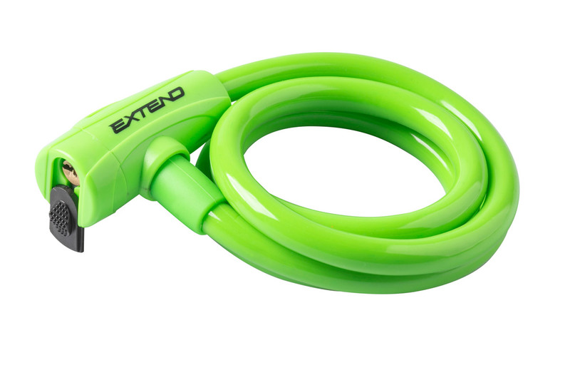 Zámok na bicykel Extend COMPANION 12*1200mm, lime green