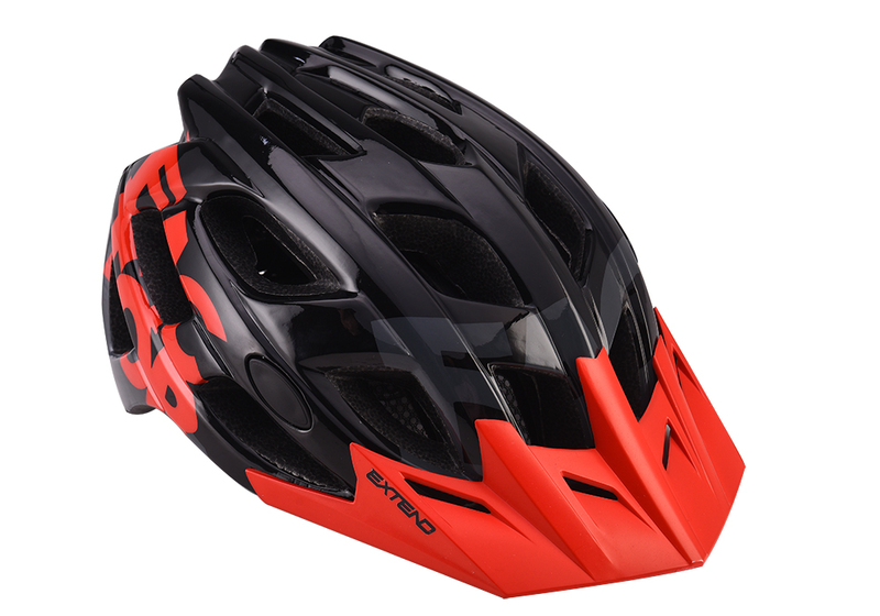 Prilba Extend FACTOR black-red S/M (55-58cm) shine