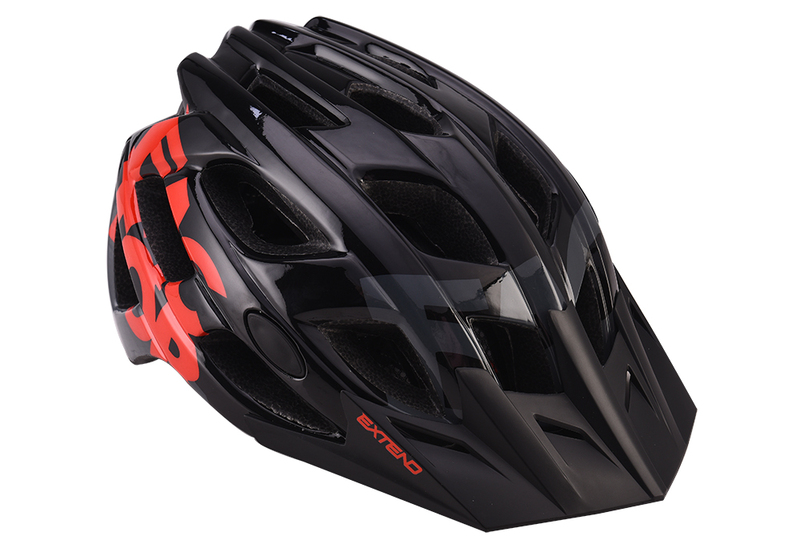 Prilba Extend FACTOR black-red M/L (58-61cm) shine