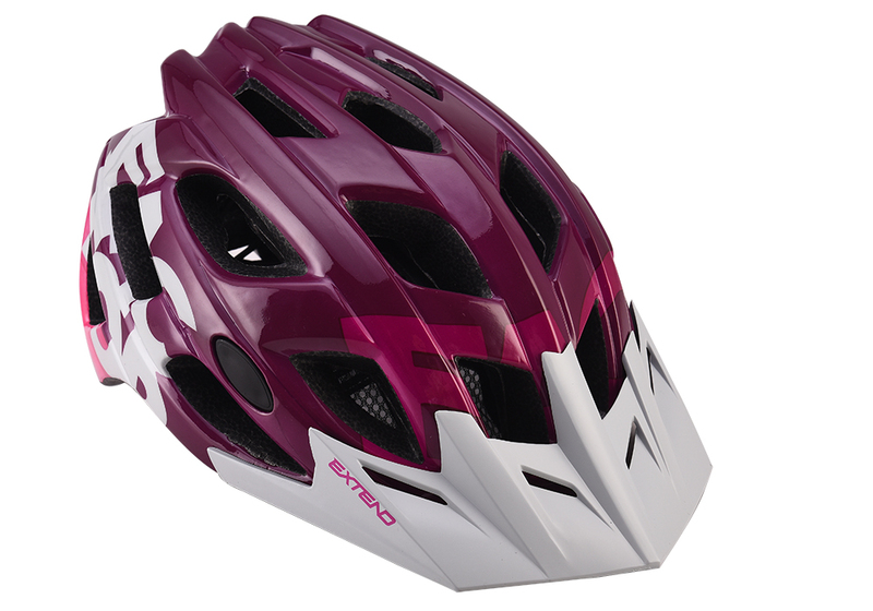 Prilba Extend FACTOR bordo-grey S/M (55-58cm) shine