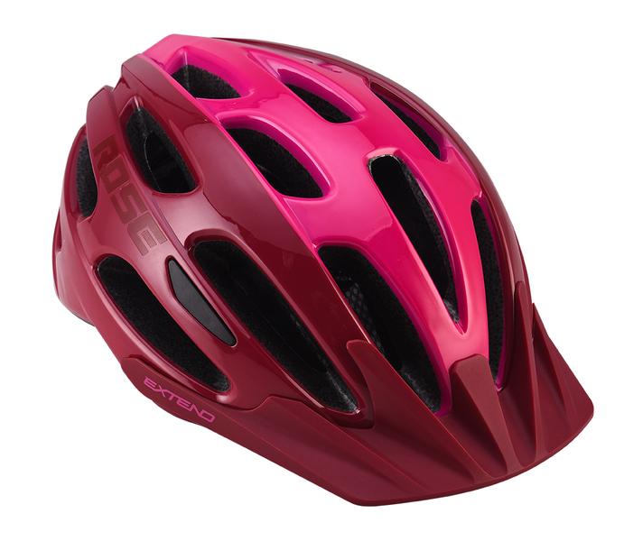 Cyklistická prilba Extend ROSE bordou-Lady pink, XS/S (52-55 cm) shine
