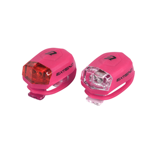 Sada bezpečnostného osvetlenia Extend FROGGIES - pink