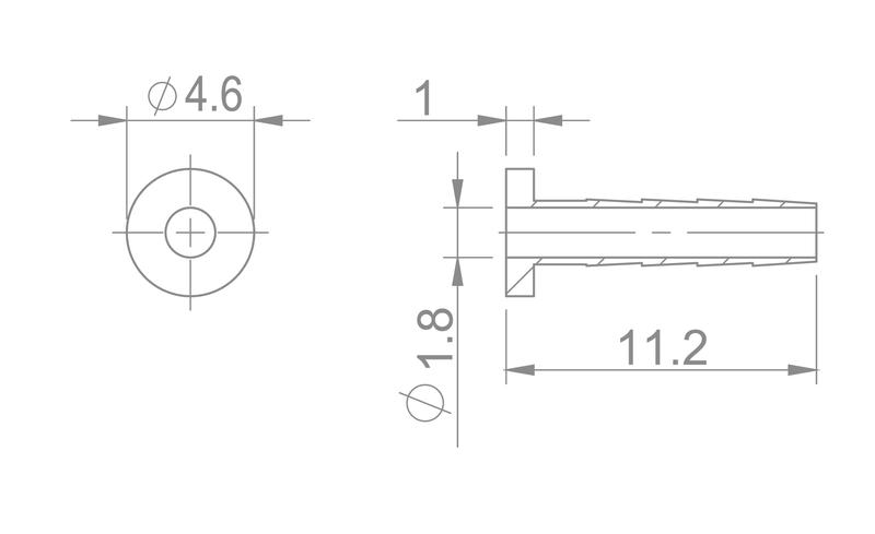 Kompresná vložka - ihla pre vnút.pr. 2,1mm SHIMANO BH-90
