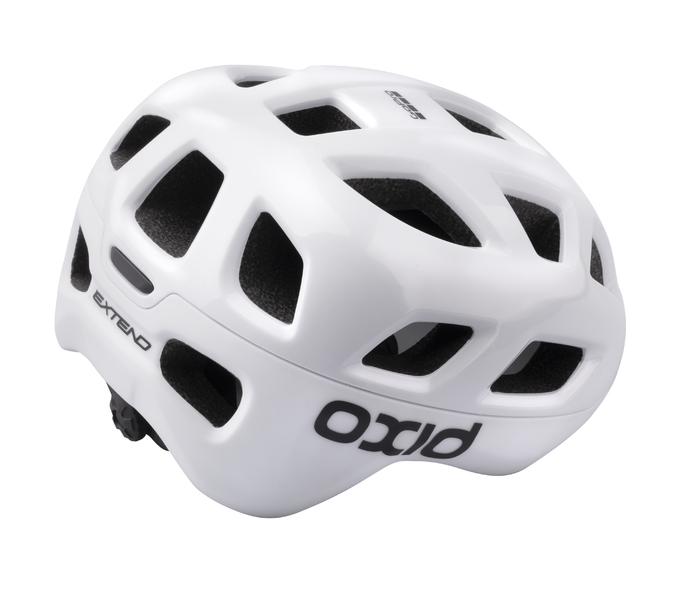 Prilba Extend OXID, white, S/M (55-58 cm) shine/matt, road