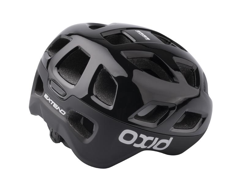 Prilba Extend OXID, black, S/M (55-58 cm) shine/matt, road