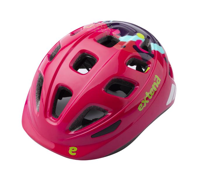 Prilba  Extend COBBY, multi-pink, S/M (51-54 cm), shine