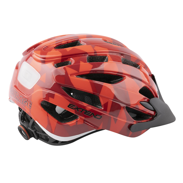 Prilba Extend COURAGE, S/M (51-55cm), camouflage red