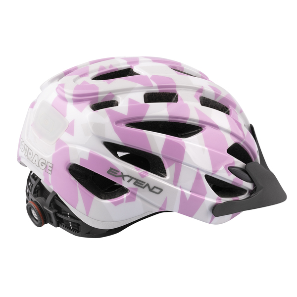 Prilba Extend COURAGE, S/M (51-55cm), camouflage pink