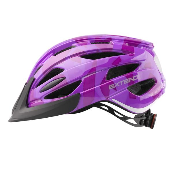 Prilba Extend COURAGE, S/M (51-55cm), camouflage purple