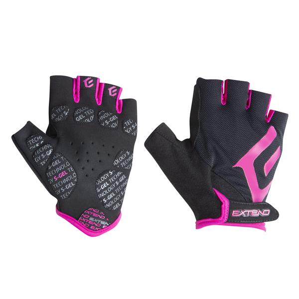 Rukavice dámske Extend ZHENA black-pink L