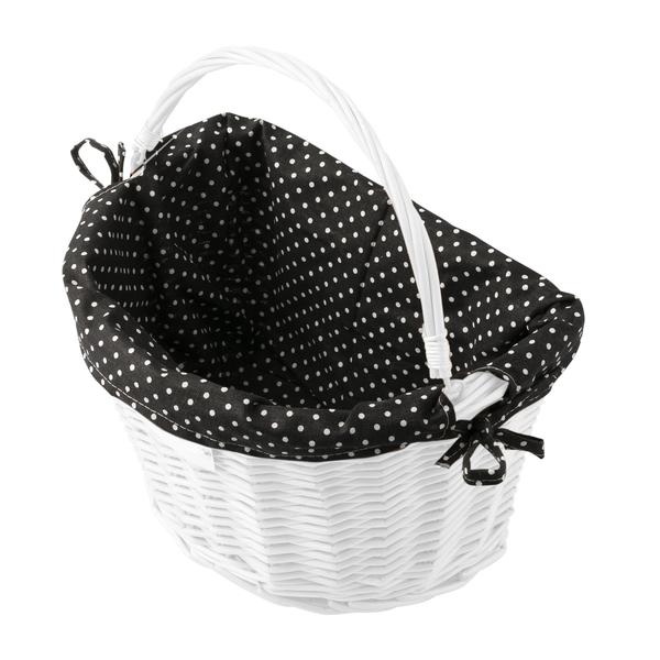 Dekoračný poťah do prúteného košíka CREDO black/white