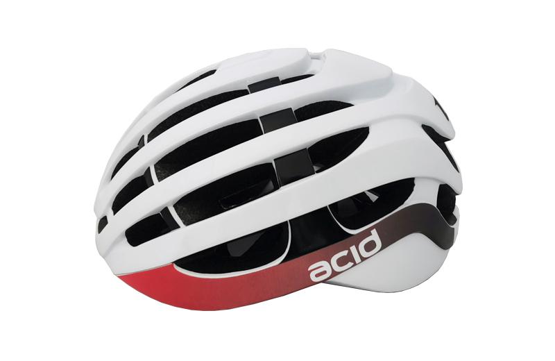 Cyklistická prilba ACID, M/L (58-61cm), white-black-red, shine