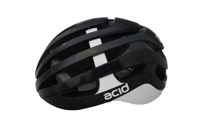 Cyklistická prilba ACID, M/L (58-61cm), black-white, shine