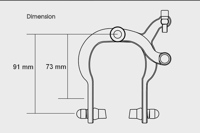 Predná brzdová čeľusť Caliper-City 73/91mm