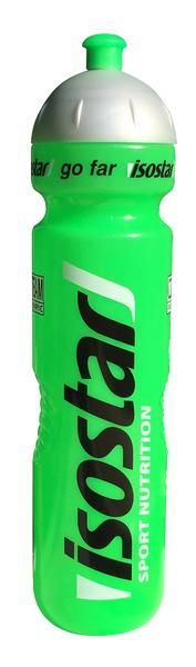 Cyklistická fľaša ISOSTAR zelená fluorescent 1000ml