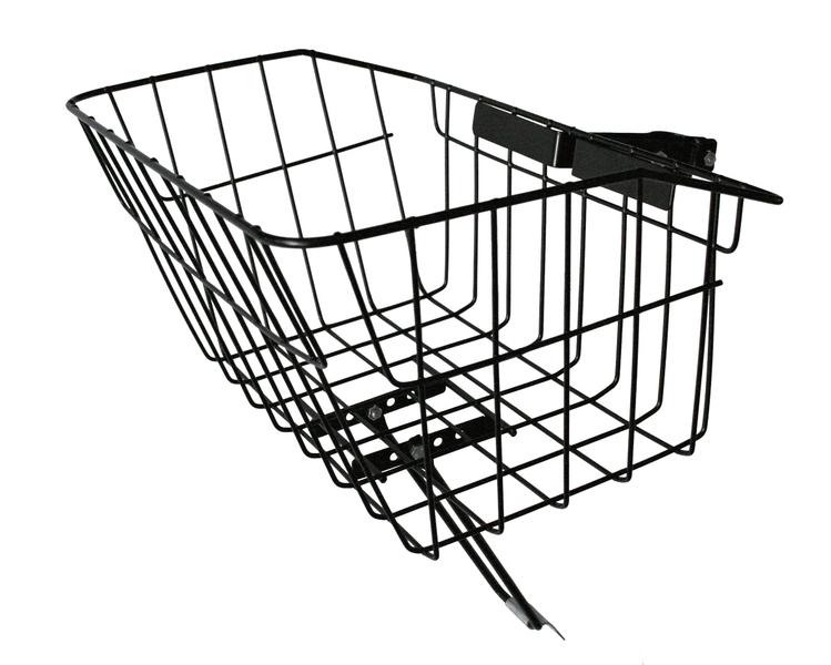 Košík predný s úchytom na predstavec - čierny