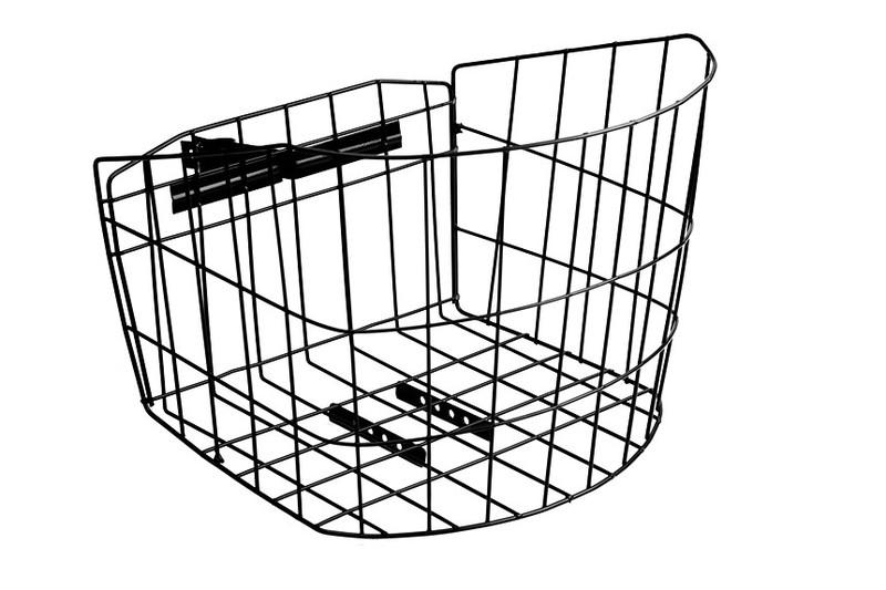 Košík predný s úchytom na predstavec, oválny - čierny