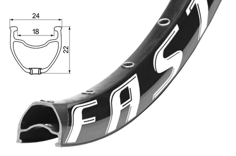Remerx Fast Disc 559x18 černý, 32 děr