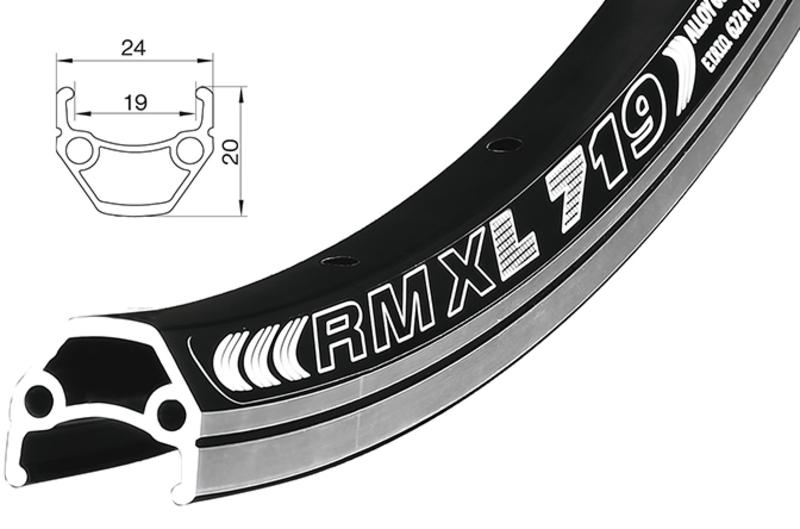 Remerx Dragon L-719 622x19 černý + GBS 36 děr