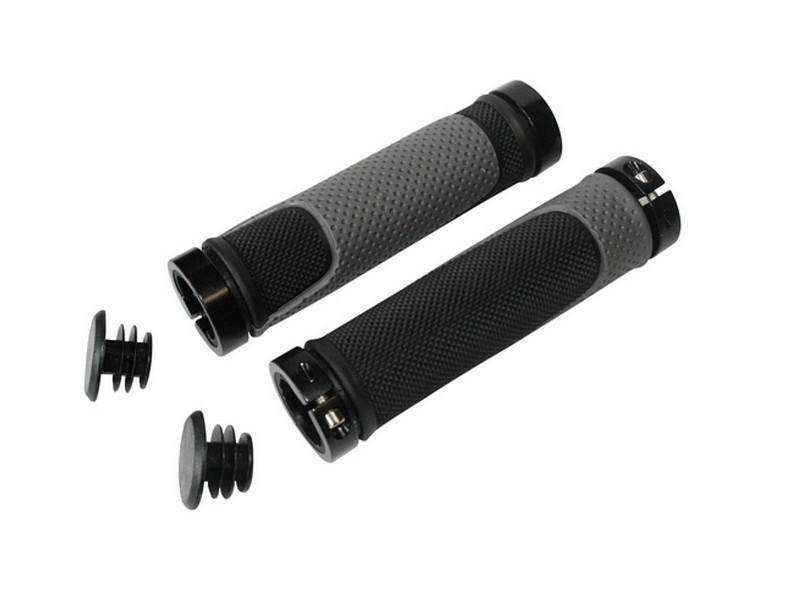 Rukoväte QT Cycle Tech  MTB 130mm čierno-šedé, s objímkami