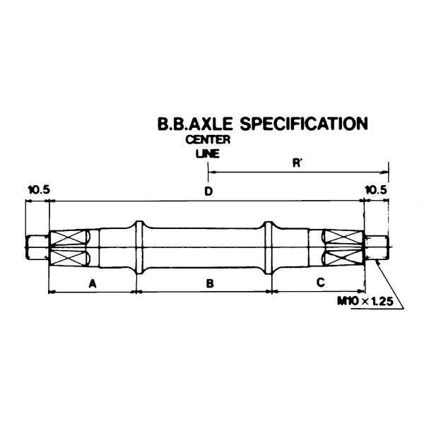 Oska stredového zloženia 121.5mm 3SS maticová 32x52x37.5mm