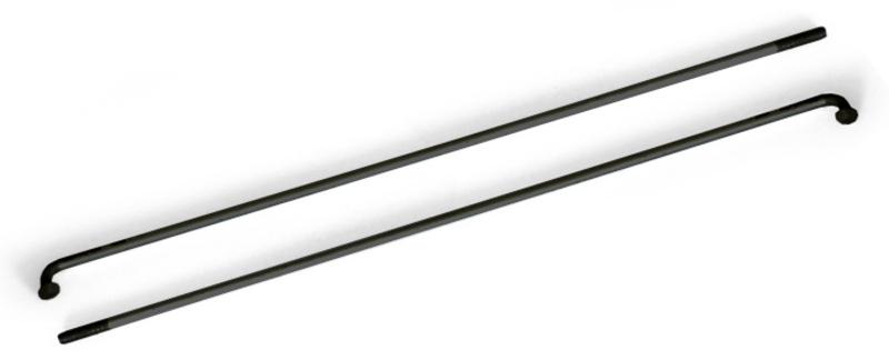 Drôt 2x254 mm nerez čierny