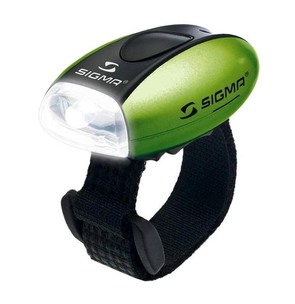 Světlo přední Sigma MICRO W zelené