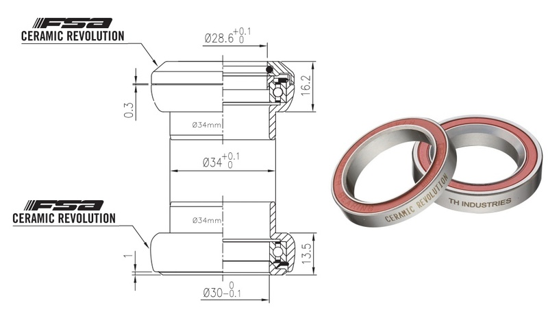 Hlavové zloženie FSA Orbit Xtreme Pro, Ceramic